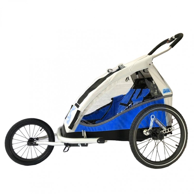 Odpružený vozík za kolo XLC by CROOZER blue Komlet