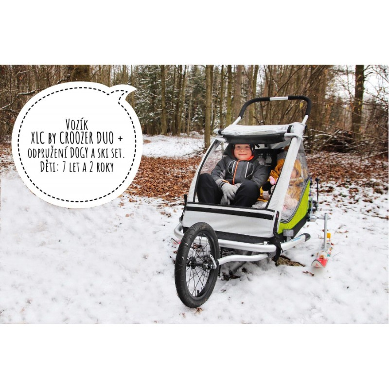 Odpružený vozík za kolo XLC DUO Plus green 2019