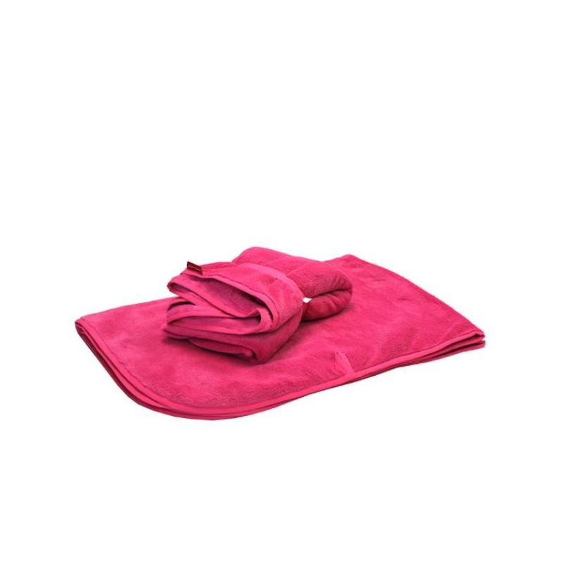 Nepadající růžová deka s poutky do vozíku za kolo a kočárku