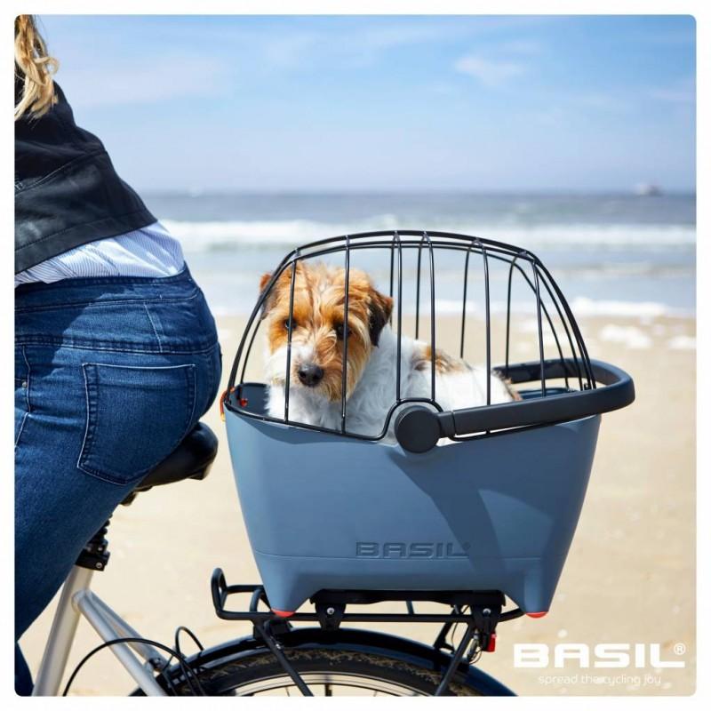 Košík na psa na kolo Basil Buddy Dog drátěný kryt