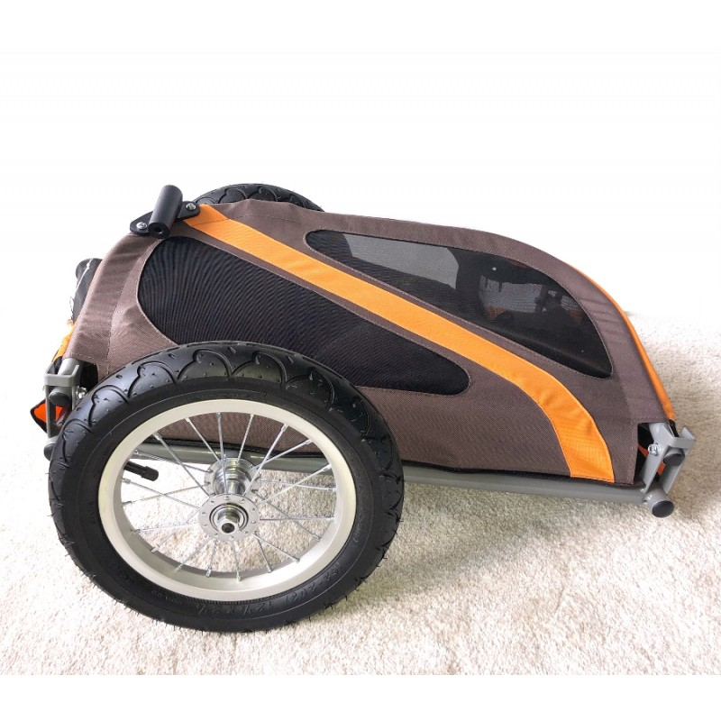 """Složený - Vozík za kolo a kočárek pro psa Dog Mini 12"""""""