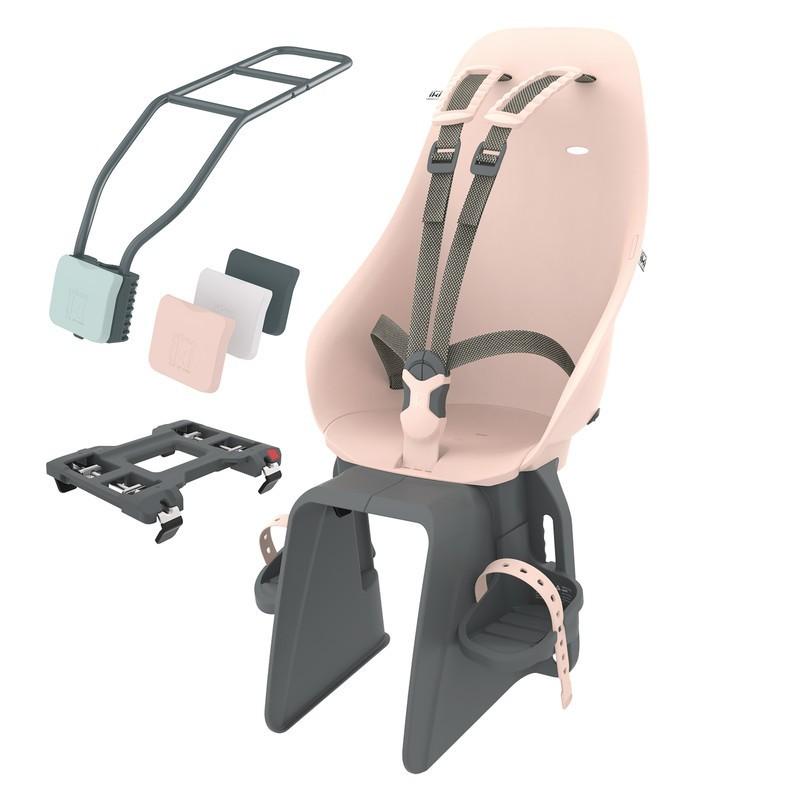 Dětská sedačka na sedlovku a nosič Urban Iki růžová