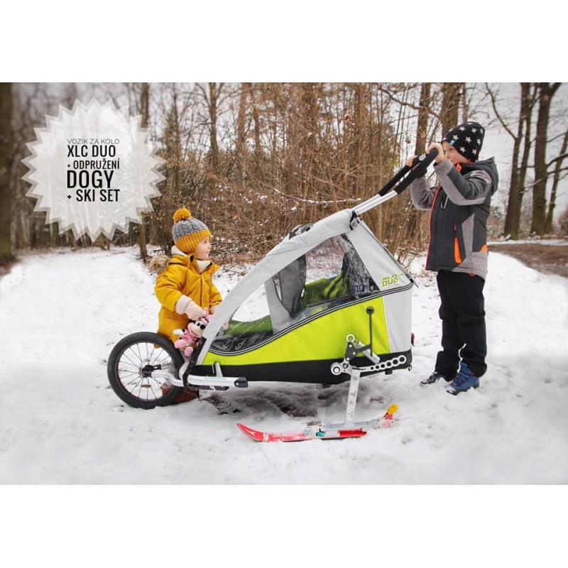 Vozík pro dvě děti XLC DUO s odpružením DOGY