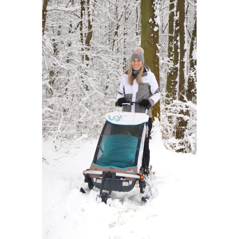 Leggero Enso bílý se ski setem a přední lyží