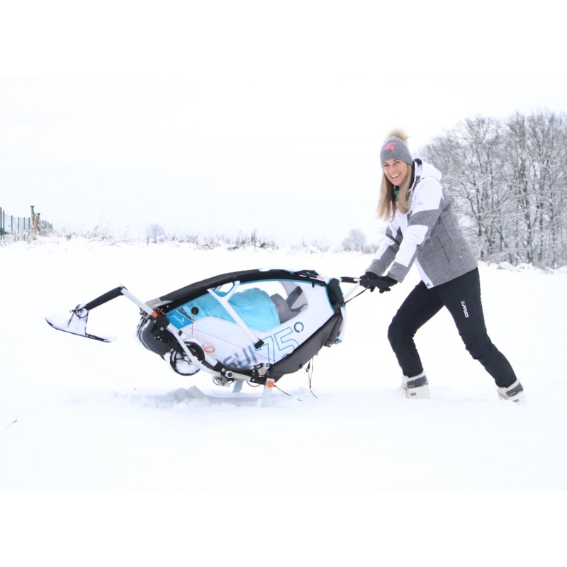Leggero Enso bílý zimní lyžařský kočárkový set