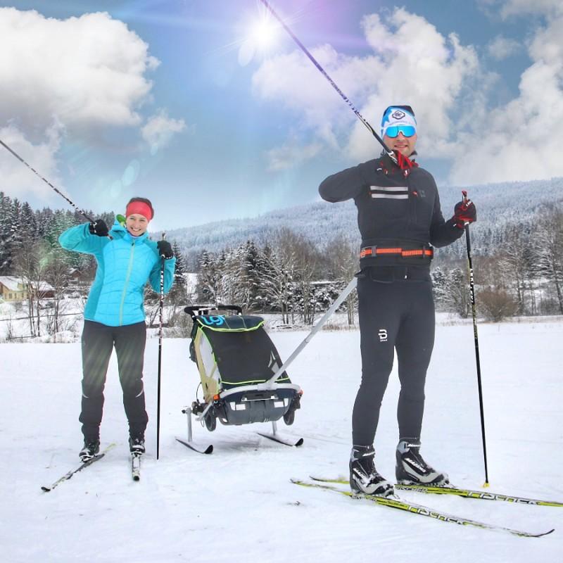 Leggero Enso béžový se ski setem