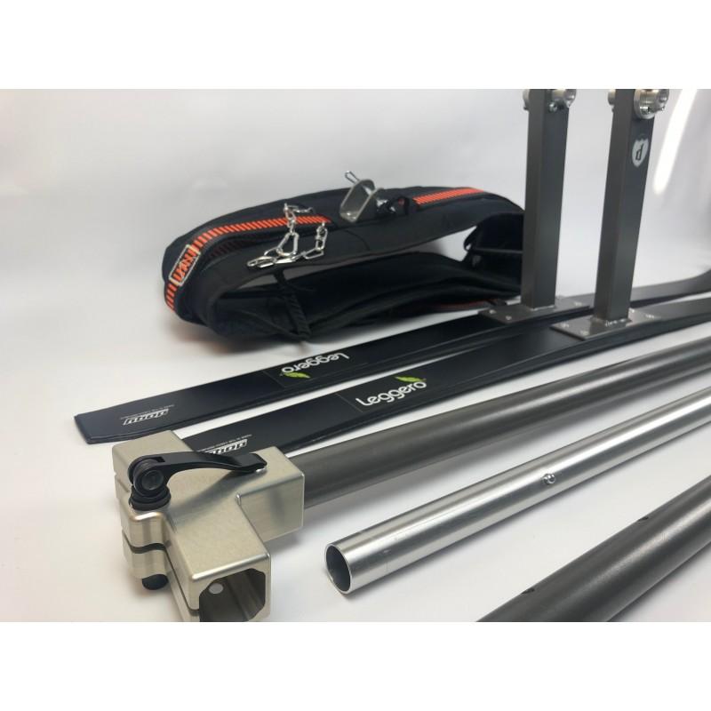 SKI Lyžařský set pro vozík za kolo Leggero Enso a Vento