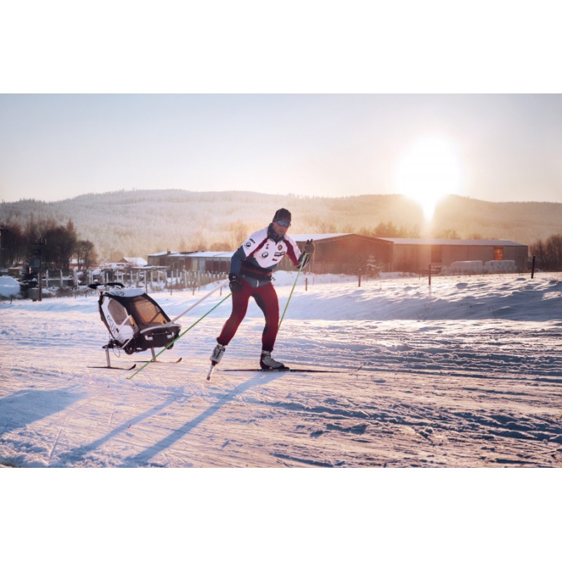 SKI Lyžařský set pro vozíky za kolo Leggero - klasické lyžování