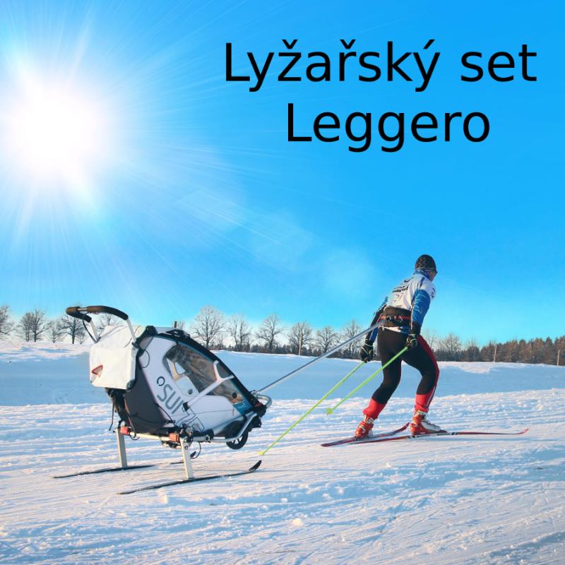 Ski set pro vozík za kolo Leggero