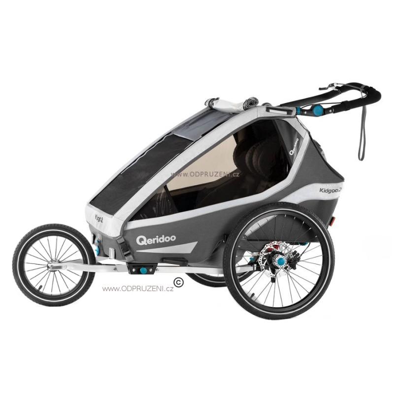 Vozík za kolo Queridoo Kidgoo2 Pro 2021 gray šedý