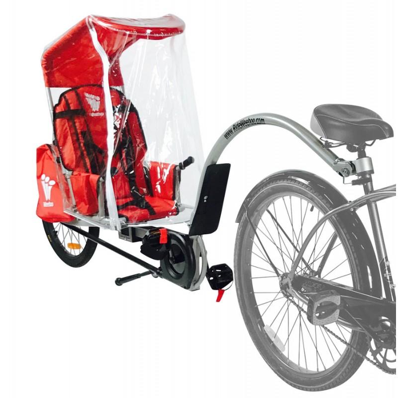 Stříška s pláštěnkou pro vozík za kolo WeeHoo