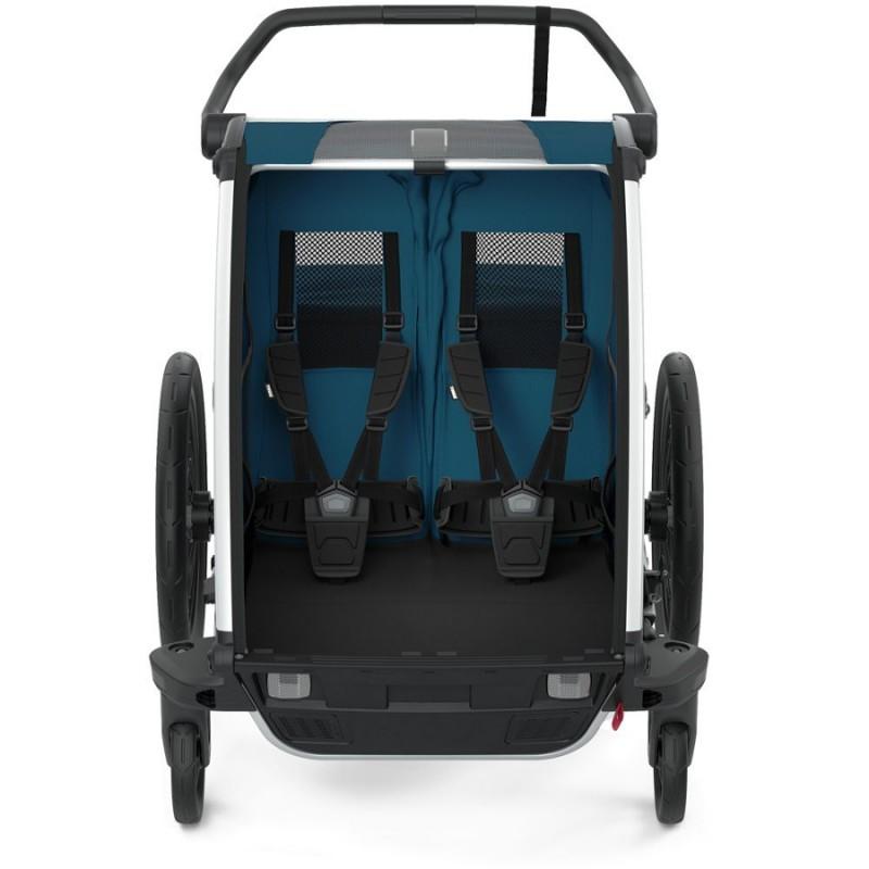 Thule Cross 2 Majolica blue - tmavě modrý vozík za kolo