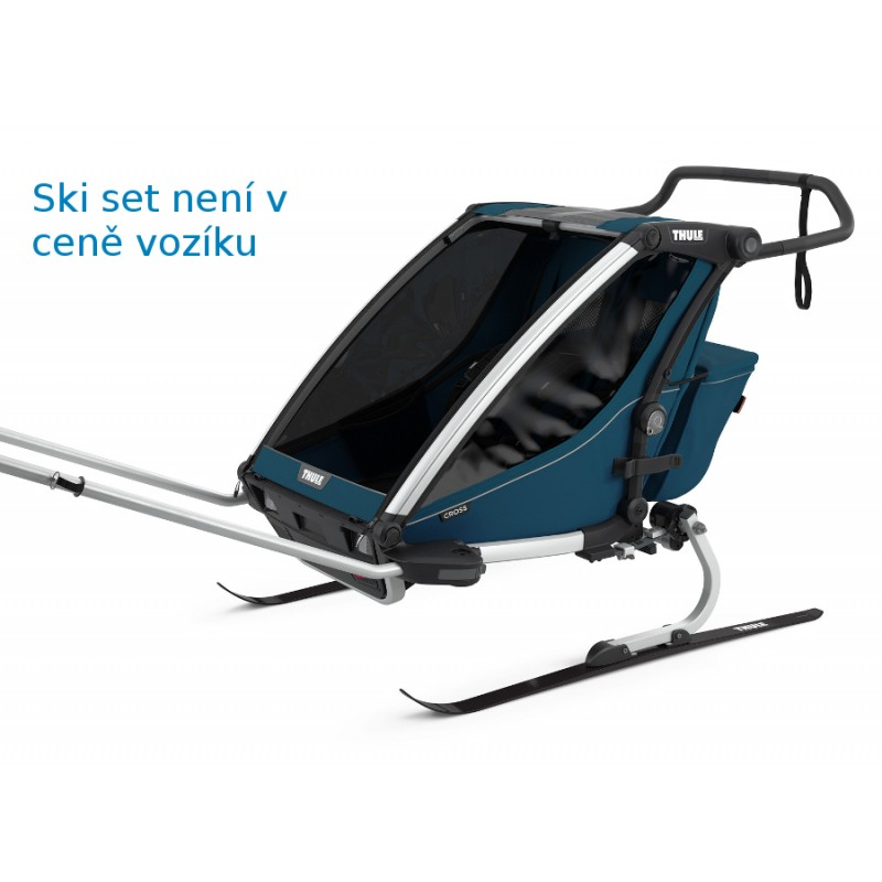 Thule Cross 2 Majolica blue - ski set