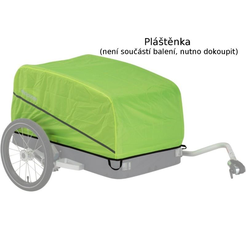 Nákladní vozík za kolo Croozer Cargo L Pakko Red - pláštěnka