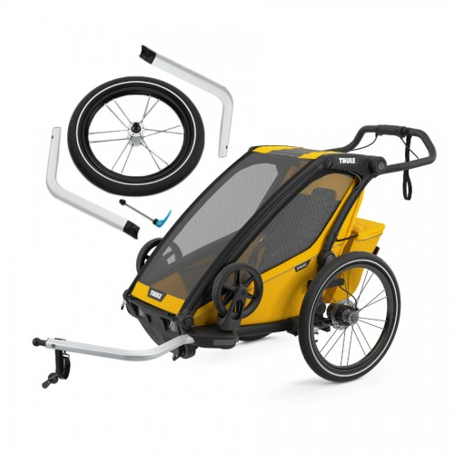 Thule Chariot Sport 1 Spectra Yellow + jogging set