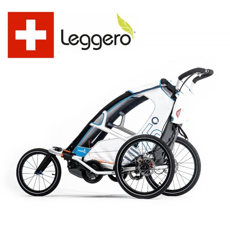 Švýcarský vozík Leggero Enso s nejlepším odpružením pro jízdu v terénu  s malými dětmi
