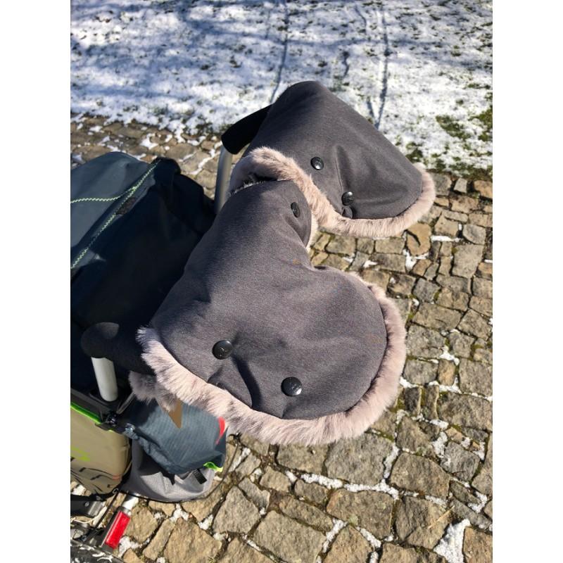 Zimní rukávník pro vozíky Leggero - kožešina béžová