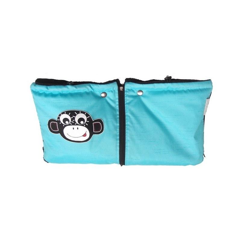 PINKIE modrý rukávník ODDĚLITELNÝ opice