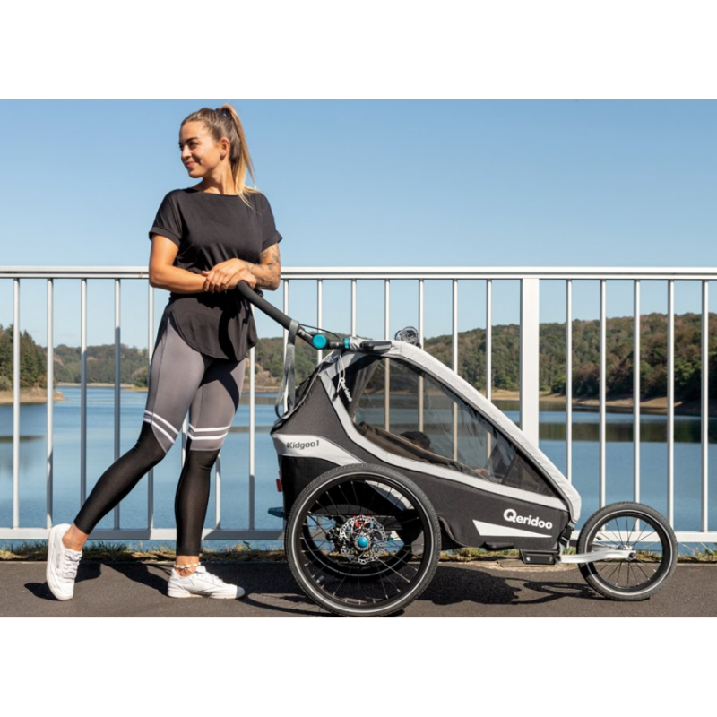 Jednomístný vozík za kolo Kidgoo1 Pro - Anthracite Grey 2021