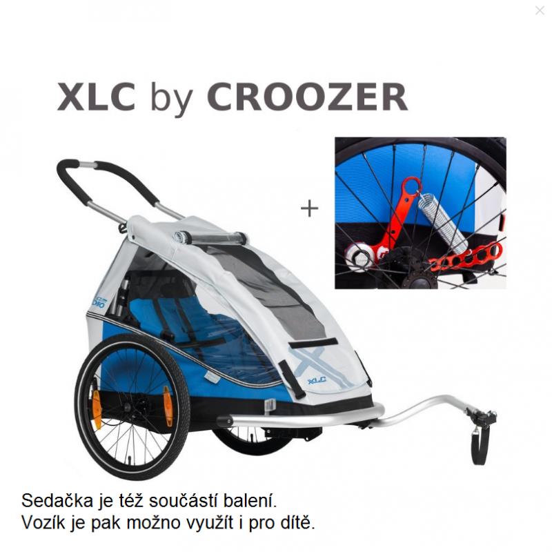 Odpružený vozík za kolo pro psy XLC by CROOZER