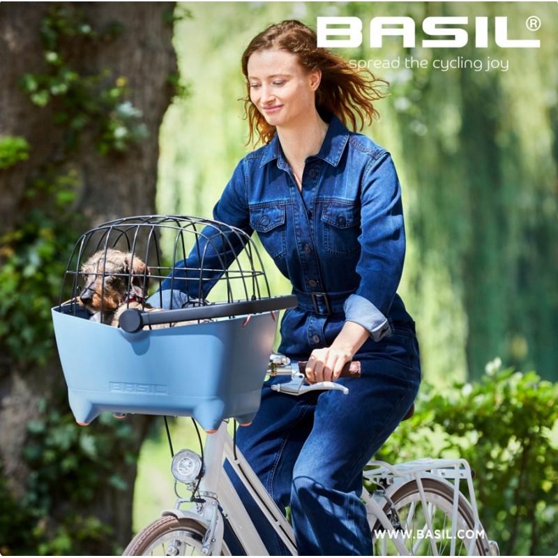 Přední koš na kolo na psa Basil Buddy Dog