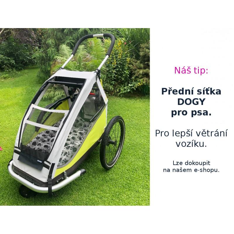 Větrací přední síťka na vozík za kolo pro psy XLC by CROOZER green