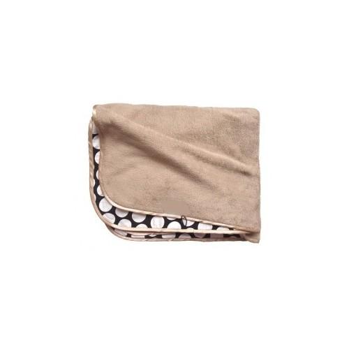 Béžová deka nejen do kočárku s puntíky