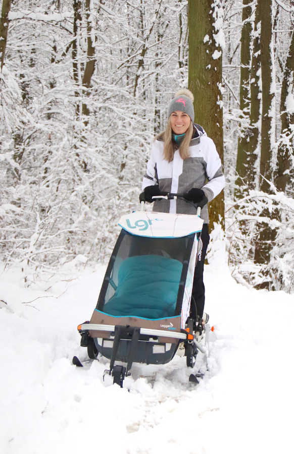Vozík za kolo v zimě Leggero Enso