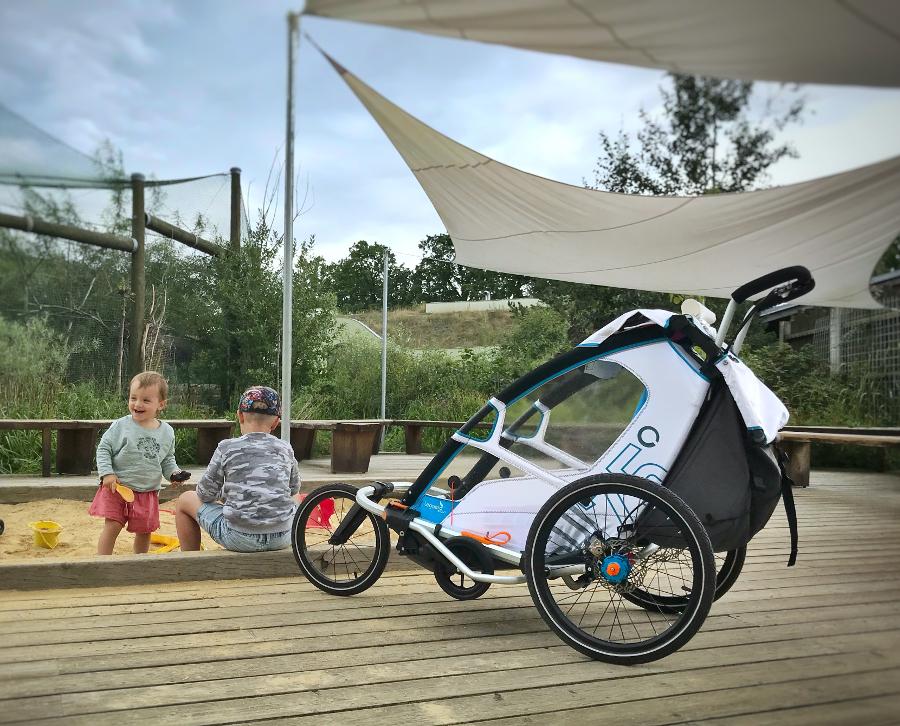 Leggero Enso bílý vozík za kolo