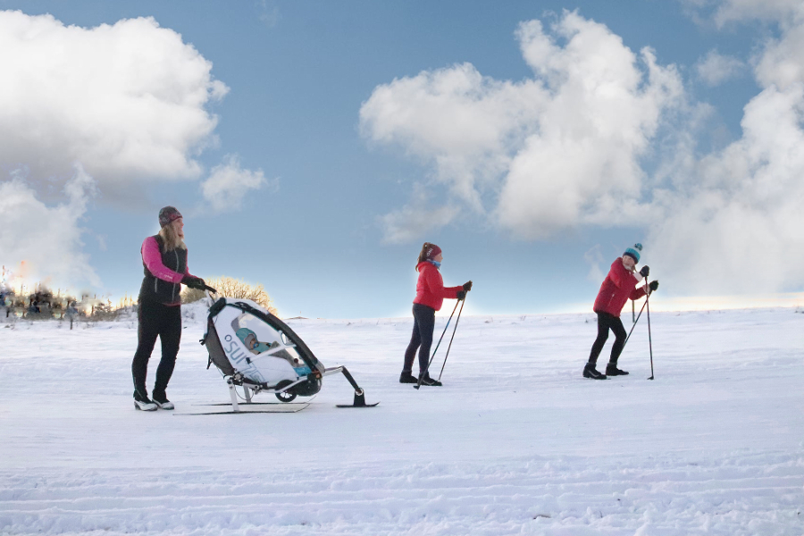 Nejlepší kočárek na zimu. Vozík za kolo!