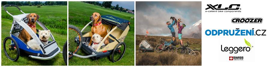 Vozíky za kolo pro psy