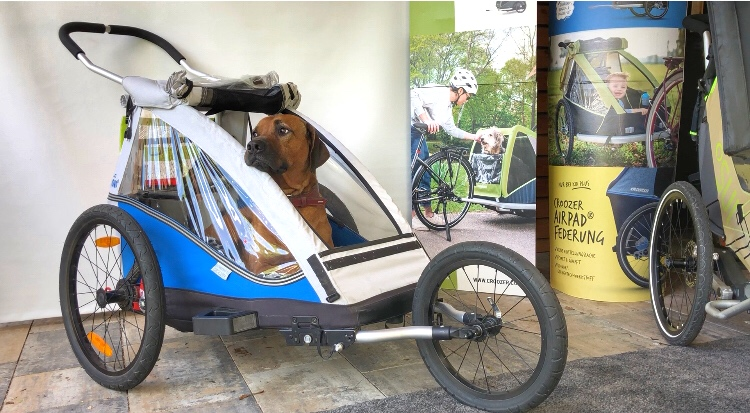 Terénní kočárek a vozík za kolo pro psa XLC Mono by Croozer